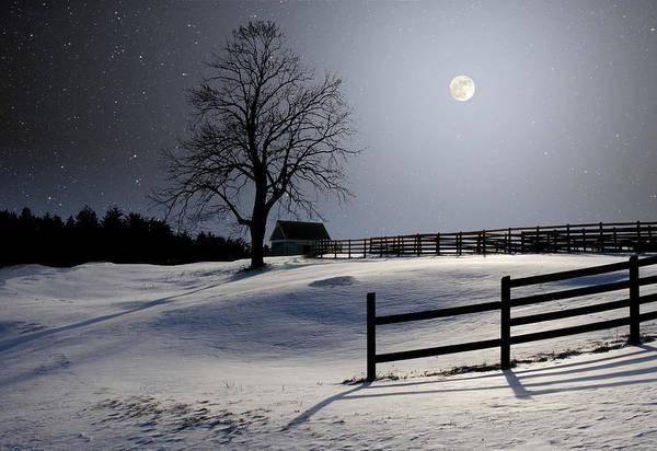 Photograph - Winter Full Moon by Larry Landolfi