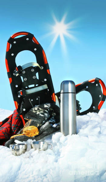 Wall Art - Photograph - Winter Fun With Hot Chocolate And Cookies In The Snow by Sandra Cunningham