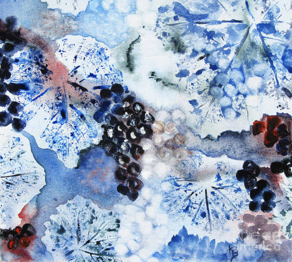 Painting - Winter Grapes IIi by Karen Fleschler
