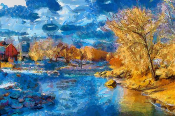 Digital Art - Winter In Salida -- Renoir by Charles Muhle