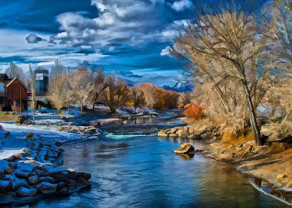 Digital Art - Winter In Salida  by Charles Muhle