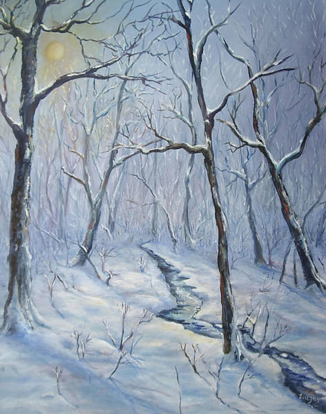 Painting - Winter Light by Katalin Luczay