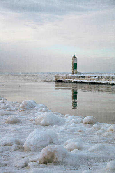 Photograph - Winter Lighthouse by Laura Kinker