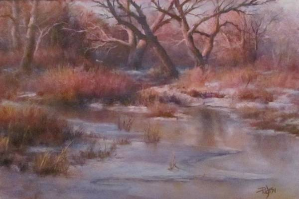 Pastel - Winter Marsh Series - The Dance by Bill Puglisi