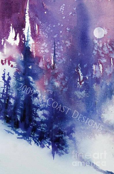 Oregon Coast Mixed Media - Winter Moon by Barbara Coast