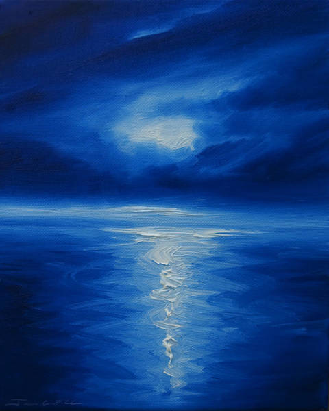 Painting - Winter Moon Vi by James Christopher Hill