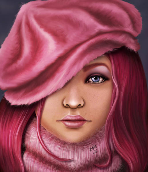 Digital Art - Winter Pink by Karla White