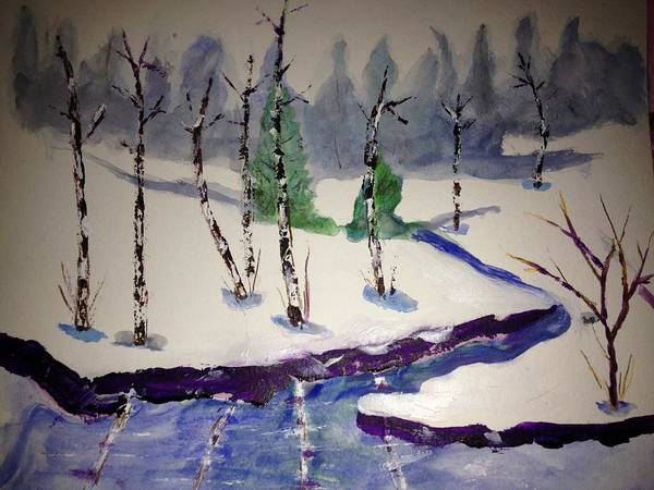 Benny Painting - Winter Scene by Benny Davis
