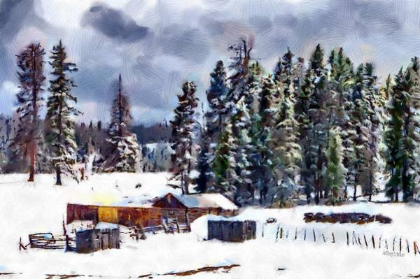 Lone Tree Painting - Winter Seclusion by Jeffrey Kolker