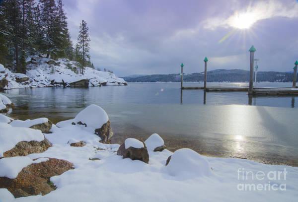 North Idaho Photograph - Winter Shore by Idaho Scenic Images Linda Lantzy