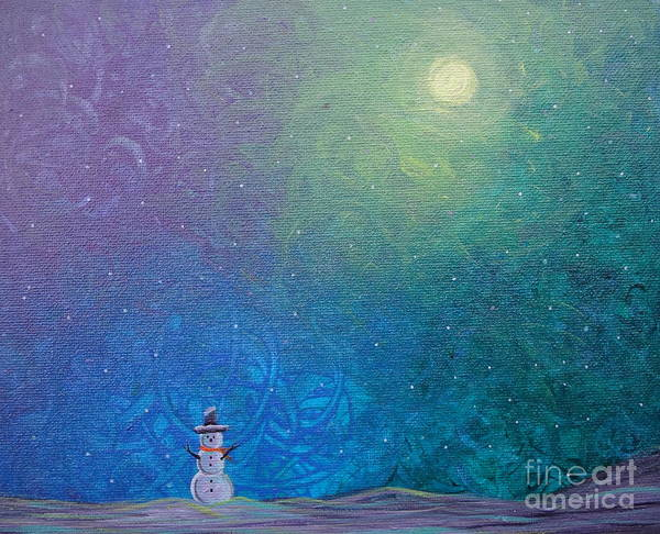Painting - Winter Solitude 1 by Jacqueline Athmann