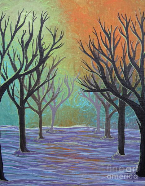 Painting - Winter Solitude 11 by Jacqueline Athmann