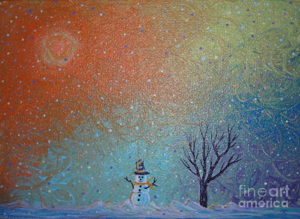 Painting - Winter Solitude 9 by Jacqueline Athmann