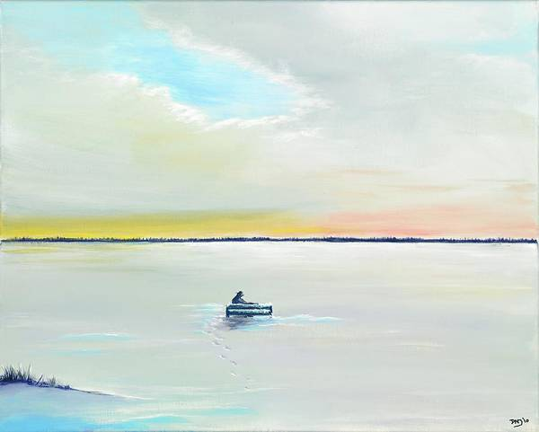 Wall Art - Painting - Winter Solitude by David Junod