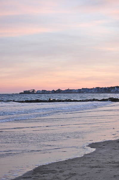 Photograph - Winter Sunset At Wallis Sands New Hampshire by Mary McAvoy