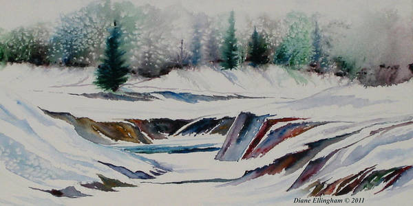 Painting - Winter Wonderland by Diane Ellingham