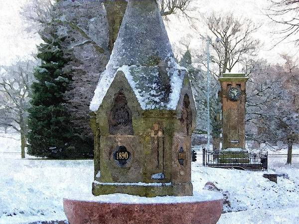 Photograph - Wintry Tettenhall In Oil by Sarah Broadmeadow-Thomas