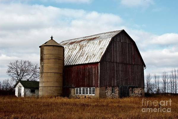 Wisconsin Dairy Barn Art Print