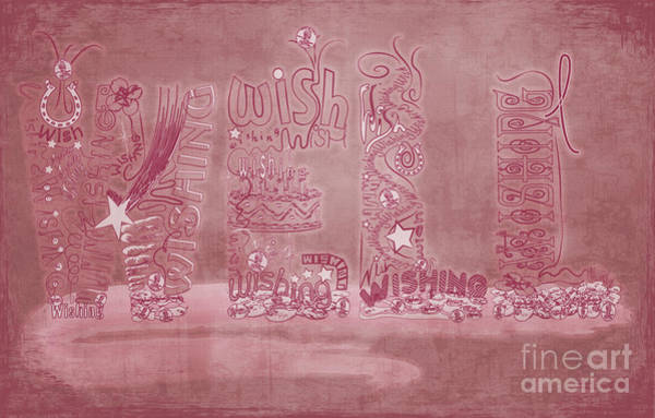 Breast Cancer Awareness Wall Art - Digital Art - Wishing Well Breast Cancer Tribute by Laura Brightwood