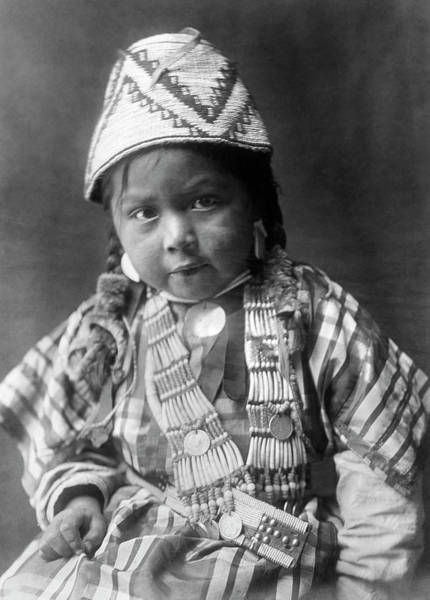 Photograph - Wishram Girl 1909 by Granger