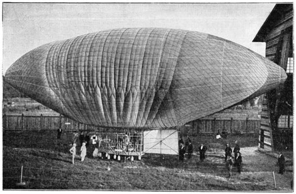 Flammable Wall Art - Photograph - Woelfert's Airship, 19th Century by