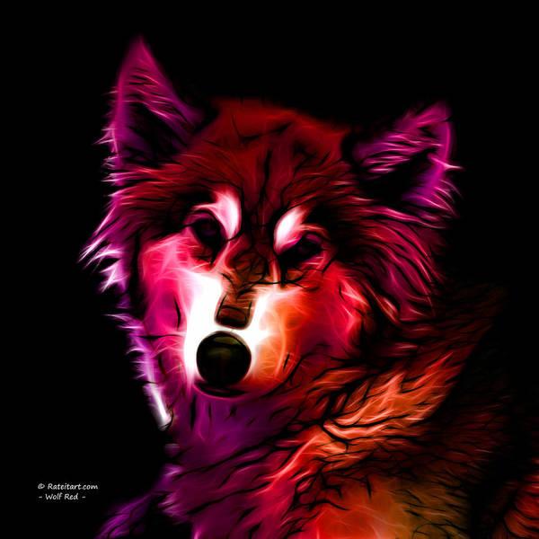 Wolf - Red Art Print