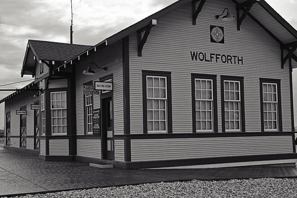 Photograph - Wolfforth Train Depot by Melany Sarafis