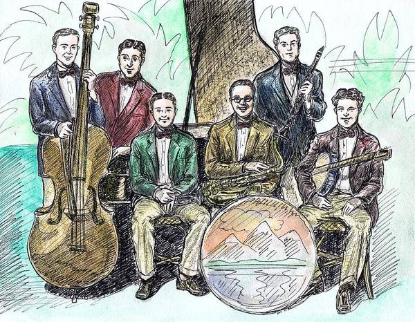 Vintage Chicago Drawing - Wolverine Orchestra by Mel Thompson