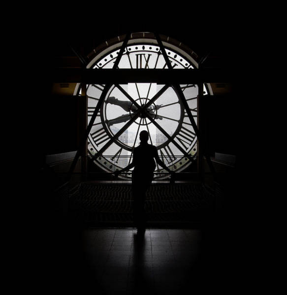 Woman Behind Time Art Print