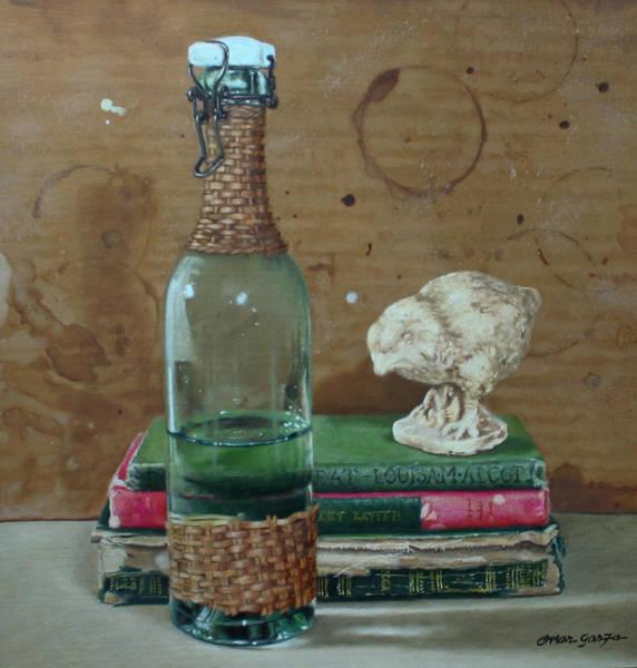 Wall Art - Painting - Woman In A Bottle by Omar Garza