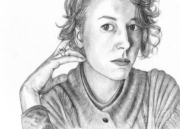 Woman In Sweater Art Print