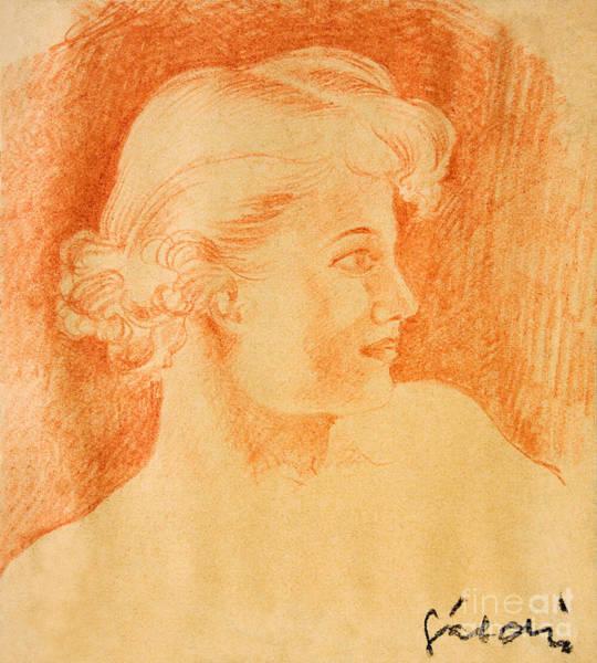 Hairdo Drawing - Woman Portrait by Odon Czintos