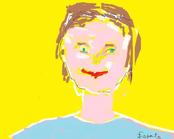 Woman Smiling Art Print