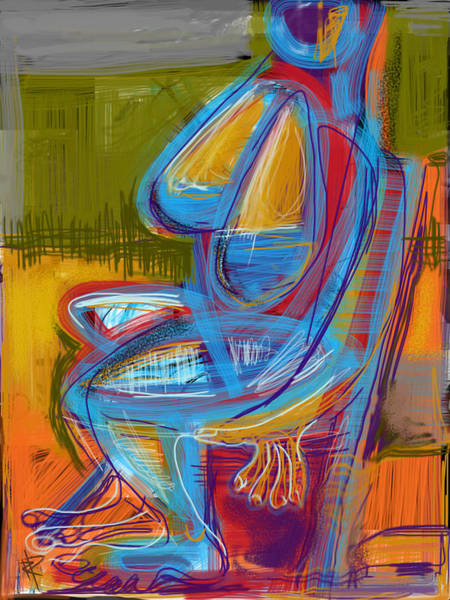 Chair Mixed Media - Woman Under Grey Skies by Russell Pierce