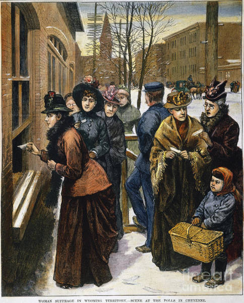 Poll Photograph - Women At The Polls, 1888 by Granger