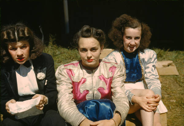 Rutland Photograph - Women Carnival Performers, Original by Everett