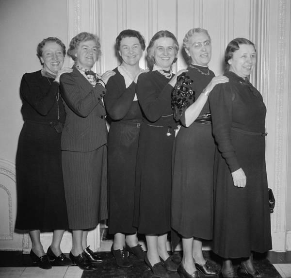 Member Of Congress Wall Art - Photograph - Women Members Of The 75th Congress by Everett
