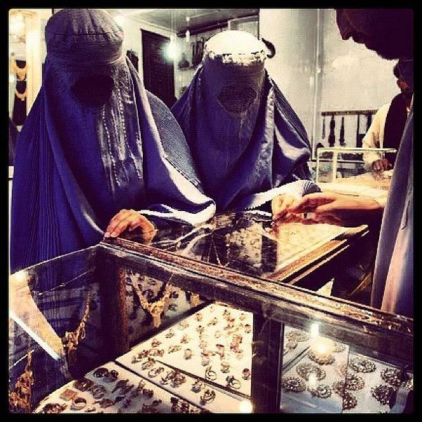 Military Photograph - Women Shopping In Afghanistan by Cody Barnhart