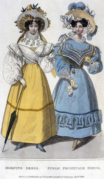 Photograph - Womens Fashion, 1829 by Granger