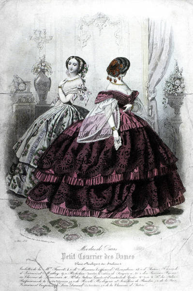 Photograph - Womens Fashion, 1858 by Granger