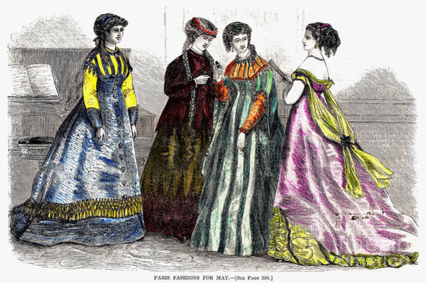 Photograph - Womens Fashion, 1866 by Granger