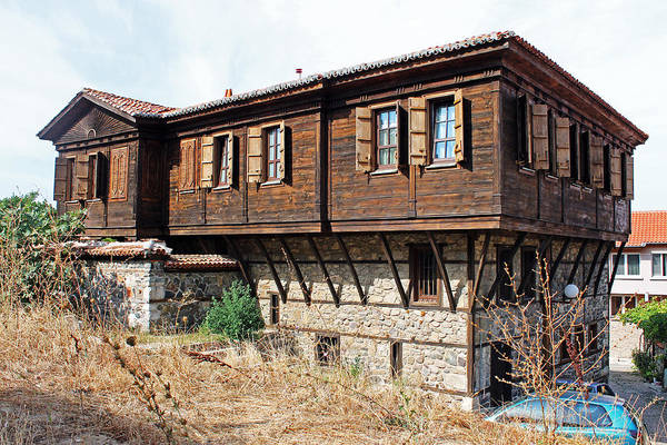 Photograph - Wooden And Stone House by Tony Murtagh