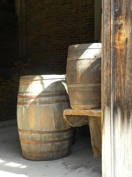 Photograph - Wooden Barrels by Peggy  McDonald