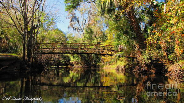 Photograph - Wooden Bridge Over The Hillsborough River by Barbara Bowen