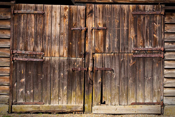 Lock Gates Photograph - Wooden Door by Tom Gowanlock