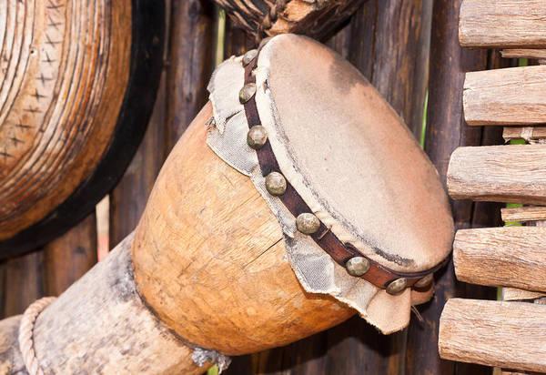 Djembe Wall Art - Photograph - Wooden Instruments by Tom Gowanlock