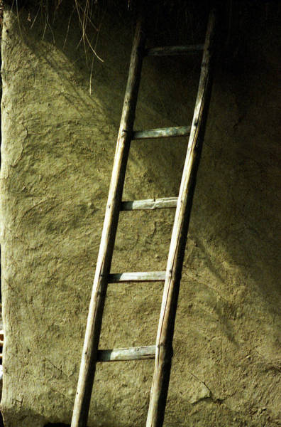 Photograph - Wooden Ladder  by Emanuel Tanjala