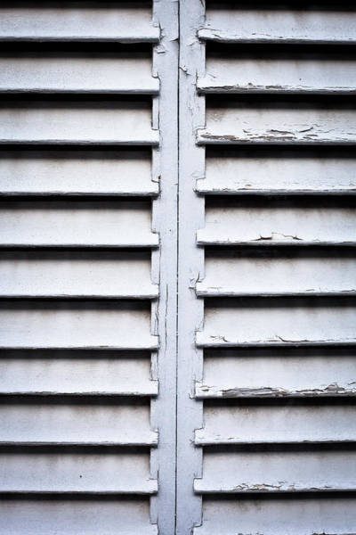 Brighter Side Photograph - Wooden Shutters by Tom Gowanlock