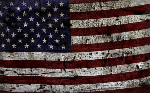 Wall Art - Photograph - Wooden Textured Usa Flag2 by John Stephens