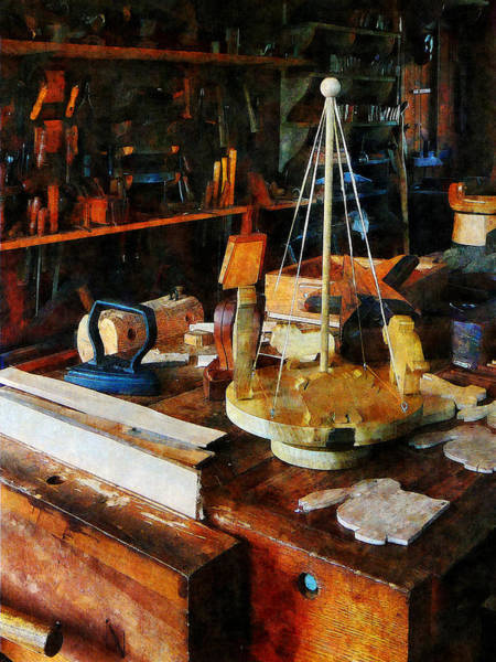 Photograph - Wooden Toys In Wood Shop by Susan Savad
